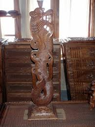 dragon lamp stand fully carved walnut wood for sale