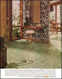 Vintage Vinyl Flooring by Armstrong Vinyl Floors Ladies U0027 Home Journal 06 01 1961 Inside