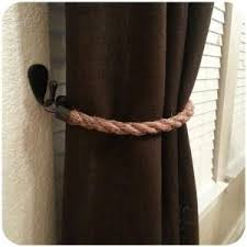 Rope Tiebacks For Curtains Diy Curtains Diy Rope Tieback Diy Home Window Treatments