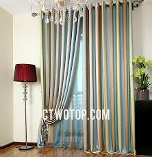 shabby chic funky bedroom teal brown gray and olive green striped