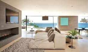 Modern Beach House Interior With Canvas Wall Arts Decorating - Modern beach house interior design
