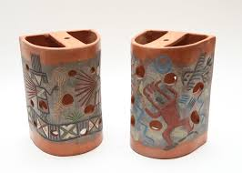 Ebth by Clay Native American Wall Sconces Ebth Outdoor Clay Wall Sconces