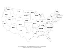 printable usa map printable states and capitals map united states map pdf