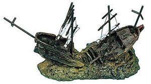 aquarium fish tank ornament galleon shipwreck ruin crashed