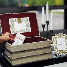 wishing box wedding antique book box wedding wishing well guest books pen sets