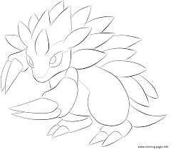 028 sandslash pokemon coloring pages printable