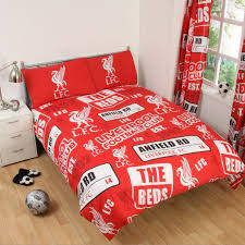 liverpool fc single and double duvet cover sets
