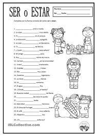 estar worksheet estar conjugation wadjectives printable spanish