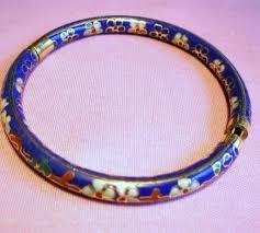 blue bangle bracelet images Vintage cobalt blue cloisonne enamel hinged bangle bracelet sold jpg