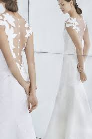 carolina herrera wedding dress carolina herrera illusion back floral a line wedding dress fall