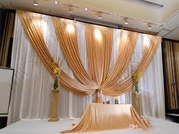 wedding backdrop gold 10ft x 20ft gold wedding backdrop stage curtain drape wedding