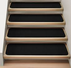 Modern Stair Tread Rugs Set Of 12 Attachable Carpet Stair Treads 9 X36 Black Runner Rugs