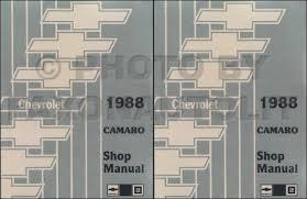 1988 chevy camaro repair shop manual original