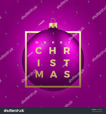 Greeting In Business Email vector realistic christmas ball on purple stock vector 516901207