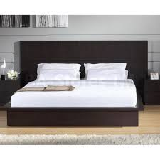 Modern Platform Bed Frame 897 00 Anchor Modern Platform Bed In Wenge D2d Furniture Store