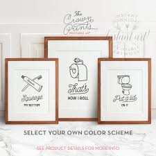 bathroom art ideas for walls funny wall art bathroom art printable art set of 3 bathroom