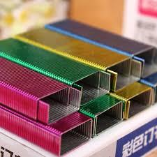 reliure bureau 5 packs lot multicolore 4 couleur agrafes 10 bureau école