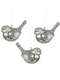 deluxe glass christmas tree decorations hanging xmas baubles birds