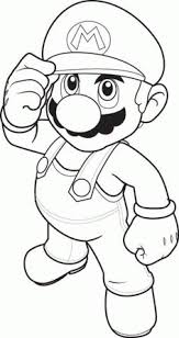 coloring pages super mario drawing super mario birthday party