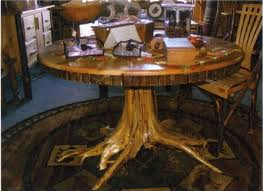tree stump table base stump table log tree base rustic furniture inside trunk dining