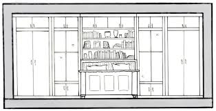 sketch elevation bathroom paige henney interior design portfolio