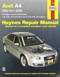 audi a4 automotive repair manual 02 08 haynes automotive repair
