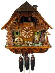 Regula Cuckoo Clock Chalet 8 Day Bird Hunter Cuckoo Clock With Music 41cm By August