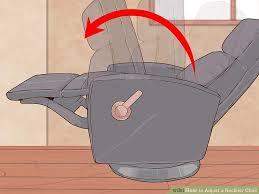 Recliner Chair Handle Broken 3 Ways To Adjust A Recliner Chair Wikihow