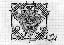 tribal gargoyle tattoo design photos pictures and sketches