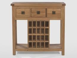 wine rack console table rustic oak wine rack console table quercus living console table