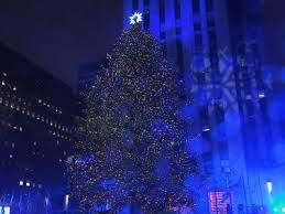 new york rockefeller center tree lit
