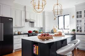 houzz blue kitchen cabinets what s popular for kitchen islands in remodeled kitchens