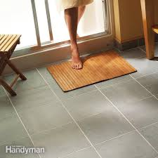 Cut To Fit Bathroom Rugs How To Lay Tile Install A Ceramic Tile Floor In The Bathroom