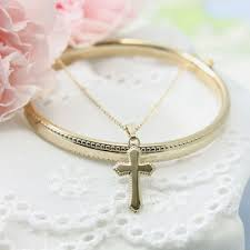 baptism jewelry 14kt gold filled baptism jewelry set with bangle bracelet and