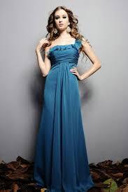 one shoulder asymmetric ruched elegant ice blue bridesmaid dresses