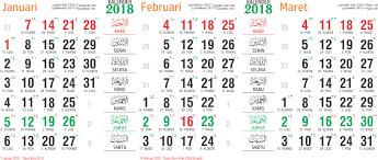 Kalender 2018 Hari Libur Toko Fadhil Template Kalender 2018 26 2018 26