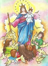 imagenes de virgen maria infantiles 15 de agosto asuncion de maria para niños buscar con google