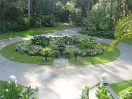 exterior excellent driveway garden landscape with concrete road