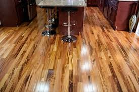tigerwood koa prefinished modern kitchen