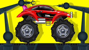 monster truck jam videos youtube sports car monster truck car garage toy factory robot youtube