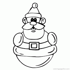 santa claus printable coloring