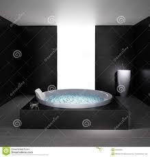 minimal bathroom with jacuzzi bathtub royalty free stock photo