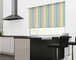 Duck Egg Blue Blind Duck Egg Circus Stripe Blue Yellow U0026 Beige Striped Roller Blinds