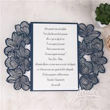 Pocket Wedding Invitations Exquisite Flower Laser Cut Wholesale Pocket Wedding Invitations