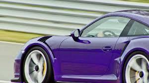 purple porsche 911 turbo porsche 911 gt3 rs 4 0 footage youtube