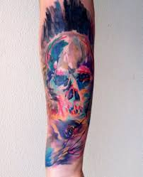 11 watercolor tattoos on forearm