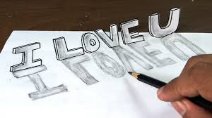 Writing Love Letters To Your Girlfriend How To Draw I Love You In 3d Graffiti Letters With Narration