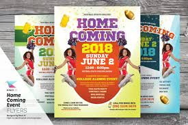 homecoming event flyer templates flyer templates creative market
