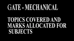 topics covered and marks allocated for gate mechanical youtube