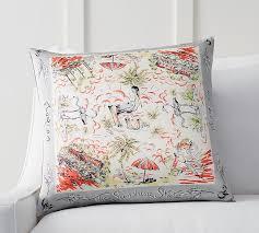 florida scarf print pillow cover pottery barn